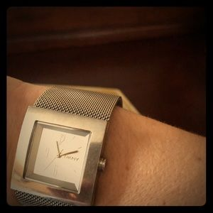 DKNY silver mesh watch